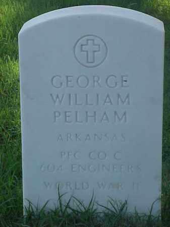 PELHAM (VETERAN WWII), GEORGE WILLIAM - Pulaski County, Arkansas | GEORGE WILLIAM PELHAM (VETERAN WWII) - Arkansas Gravestone Photos