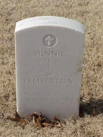 PEMBERTON, MINNIE - Pulaski County, Arkansas | MINNIE PEMBERTON - Arkansas Gravestone Photos
