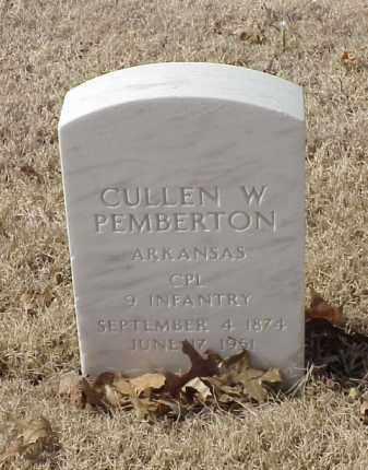 PEMBERTON (VETERAN SAW), CULLEN W - Pulaski County, Arkansas   CULLEN W PEMBERTON (VETERAN SAW) - Arkansas Gravestone Photos