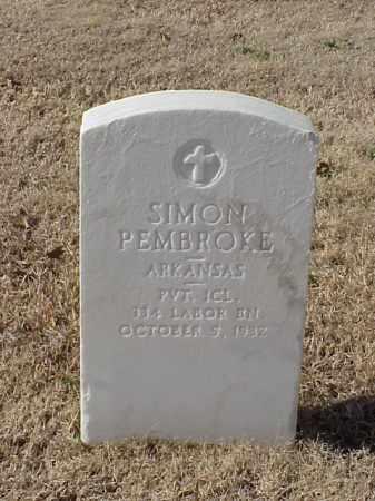 PEMBROKE (VETERAN WWI), SIMON - Pulaski County, Arkansas | SIMON PEMBROKE (VETERAN WWI) - Arkansas Gravestone Photos