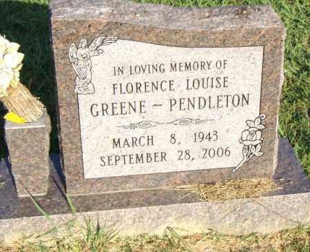GREENE PENDLEON, FLORENCE LOUISE - Pulaski County, Arkansas   FLORENCE LOUISE GREENE PENDLEON - Arkansas Gravestone Photos