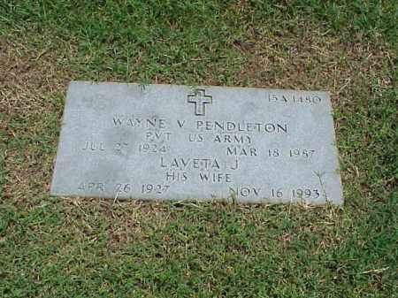 PENDLETON (VETERAN WWII), WAYNE V - Pulaski County, Arkansas | WAYNE V PENDLETON (VETERAN WWII) - Arkansas Gravestone Photos