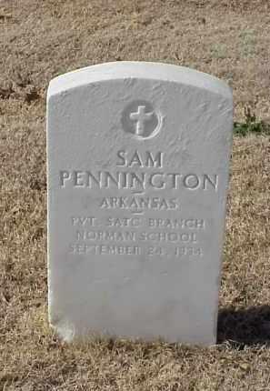 PENNINGTON (VETERAN WWI), SAM - Pulaski County, Arkansas   SAM PENNINGTON (VETERAN WWI) - Arkansas Gravestone Photos