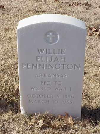 PENNINGTON (VETERAN WWI), WILLIE ELIJAH - Pulaski County, Arkansas   WILLIE ELIJAH PENNINGTON (VETERAN WWI) - Arkansas Gravestone Photos