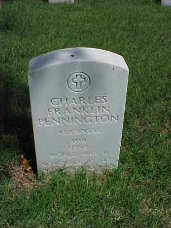 PENNINGTON (VETERAN WWII), CHARLES FRANKLIN - Pulaski County, Arkansas | CHARLES FRANKLIN PENNINGTON (VETERAN WWII) - Arkansas Gravestone Photos