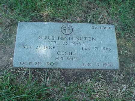 PENNINGTON, CECILE - Pulaski County, Arkansas | CECILE PENNINGTON - Arkansas Gravestone Photos
