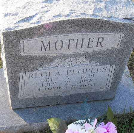PEOPLES, REOLA - Pulaski County, Arkansas   REOLA PEOPLES - Arkansas Gravestone Photos