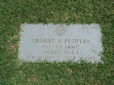 PEOPLES (VETERAN WWI), ERNEST H - Pulaski County, Arkansas | ERNEST H PEOPLES (VETERAN WWI) - Arkansas Gravestone Photos
