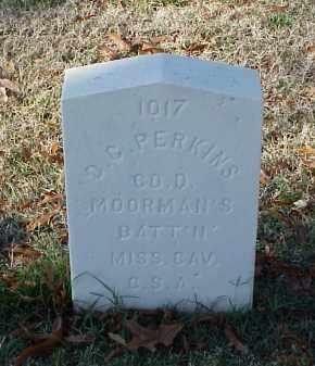 PERKINS (VETERAN CSA), D C - Pulaski County, Arkansas | D C PERKINS (VETERAN CSA) - Arkansas Gravestone Photos
