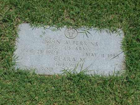 PERKINS (VETERAN WWII), JOHN A - Pulaski County, Arkansas | JOHN A PERKINS (VETERAN WWII) - Arkansas Gravestone Photos