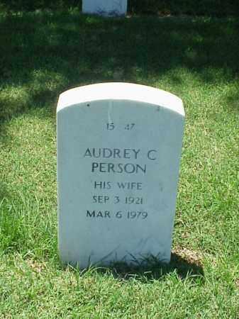 PERSON, AUDREY C - Pulaski County, Arkansas   AUDREY C PERSON - Arkansas Gravestone Photos