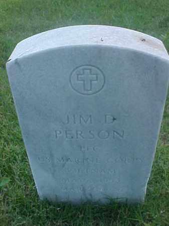 PERSON (VETERAN VIET), JIM D - Pulaski County, Arkansas | JIM D PERSON (VETERAN VIET) - Arkansas Gravestone Photos