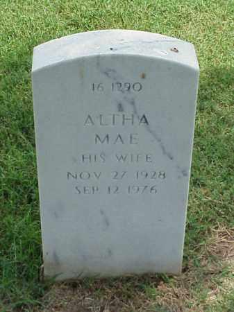PETERS, ALTHA MAE - Pulaski County, Arkansas   ALTHA MAE PETERS - Arkansas Gravestone Photos