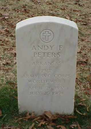 PETERS (VETERAN WWI), ANDY F - Pulaski County, Arkansas | ANDY F PETERS (VETERAN WWI) - Arkansas Gravestone Photos