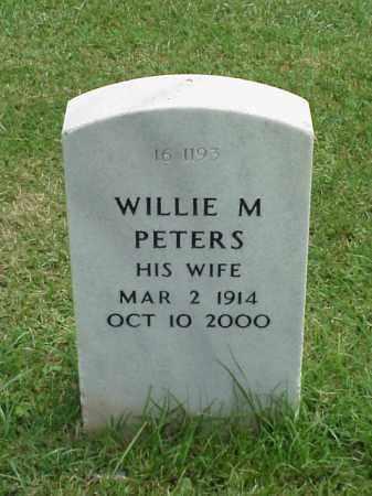PETERS, WILLIE M - Pulaski County, Arkansas   WILLIE M PETERS - Arkansas Gravestone Photos