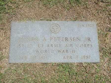 PETERSEN, JR (VETERAN WWII), MINER A - Pulaski County, Arkansas | MINER A PETERSEN, JR (VETERAN WWII) - Arkansas Gravestone Photos