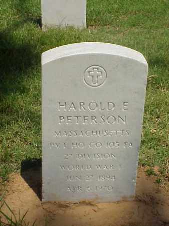 PETERSON (VETERAN WWI), HAROLD E - Pulaski County, Arkansas | HAROLD E PETERSON (VETERAN WWI) - Arkansas Gravestone Photos