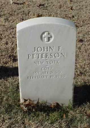 PETERSON (VETERAN WWI), JOHN F - Pulaski County, Arkansas   JOHN F PETERSON (VETERAN WWI) - Arkansas Gravestone Photos