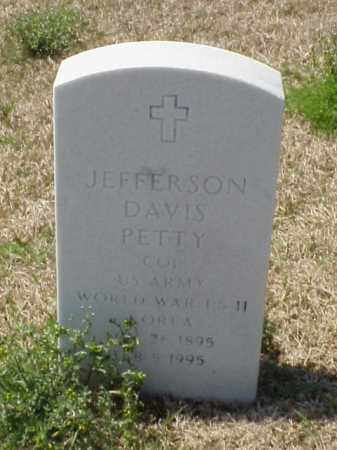PETTY (VETERAN 3 WARS), JEFFERSON DAVIS - Pulaski County, Arkansas | JEFFERSON DAVIS PETTY (VETERAN 3 WARS) - Arkansas Gravestone Photos