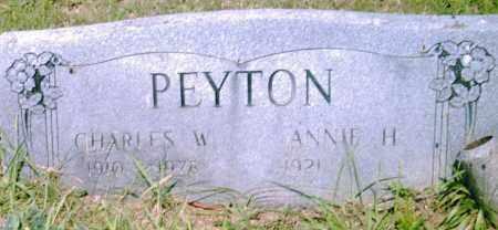 PEYTON, CHARLES  W. - Pulaski County, Arkansas   CHARLES  W. PEYTON - Arkansas Gravestone Photos