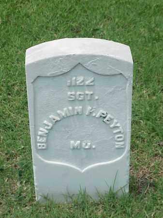 PEYTON (VETERAN UNION), BENJAMIN F - Pulaski County, Arkansas | BENJAMIN F PEYTON (VETERAN UNION) - Arkansas Gravestone Photos