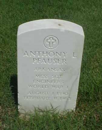 PFAUSER (VETERAN WWI), ANTHONY L - Pulaski County, Arkansas | ANTHONY L PFAUSER (VETERAN WWI) - Arkansas Gravestone Photos