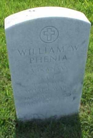 PHENIA (VETERAN WWI), WILLIAM W - Pulaski County, Arkansas | WILLIAM W PHENIA (VETERAN WWI) - Arkansas Gravestone Photos