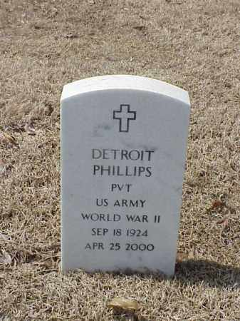 PHILLIPS  (VETERAN WWII), DETROIT - Pulaski County, Arkansas | DETROIT PHILLIPS  (VETERAN WWII) - Arkansas Gravestone Photos