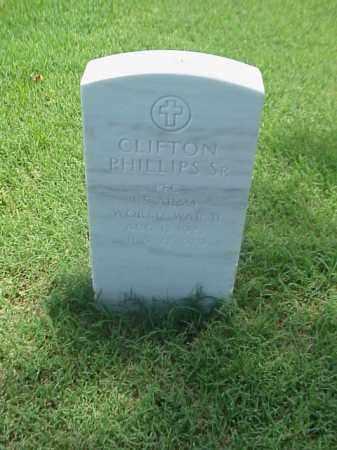 PHILLIPS, SR (VETERAN WWII), CLIFTON - Pulaski County, Arkansas | CLIFTON PHILLIPS, SR (VETERAN WWII) - Arkansas Gravestone Photos