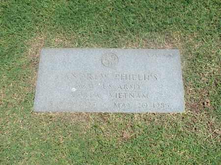 PHILLIPS (VETERAN 2 WARS), ANDREW - Pulaski County, Arkansas | ANDREW PHILLIPS (VETERAN 2 WARS) - Arkansas Gravestone Photos