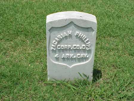 PHILLIPS (VETERAN UNION), ZACARIAH - Pulaski County, Arkansas   ZACARIAH PHILLIPS (VETERAN UNION) - Arkansas Gravestone Photos
