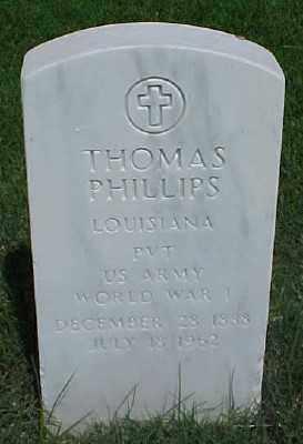 PHILLIPS (VETERAN WWI), THOMAS - Pulaski County, Arkansas | THOMAS PHILLIPS (VETERAN WWI) - Arkansas Gravestone Photos