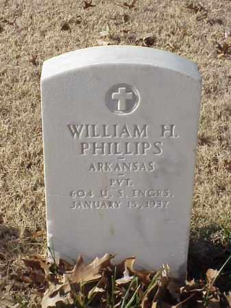 PHILLIPS (VETERAN WWI), WILLIAM H - Pulaski County, Arkansas | WILLIAM H PHILLIPS (VETERAN WWI) - Arkansas Gravestone Photos