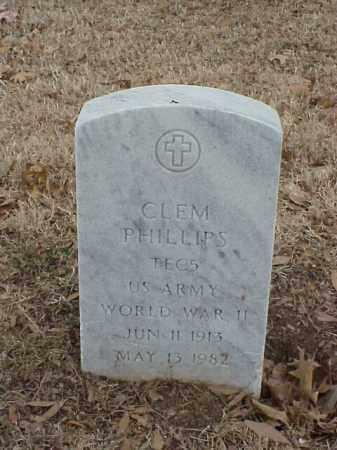 PHILLIPS (VETERAN WWII), CLEM - Pulaski County, Arkansas | CLEM PHILLIPS (VETERAN WWII) - Arkansas Gravestone Photos