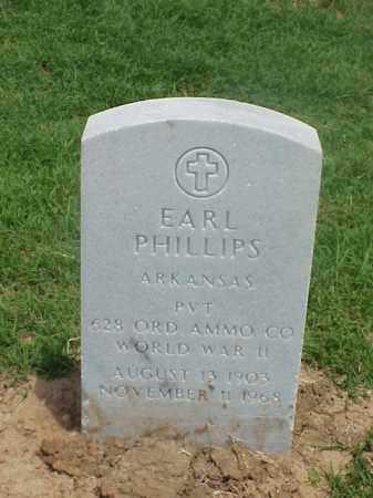 PHILLIPS (VETERAN WWII), EARL - Pulaski County, Arkansas   EARL PHILLIPS (VETERAN WWII) - Arkansas Gravestone Photos