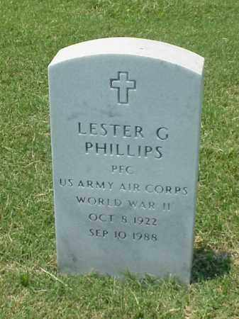 PHILLIPS (VETERAN WWII), LESTER G - Pulaski County, Arkansas | LESTER G PHILLIPS (VETERAN WWII) - Arkansas Gravestone Photos