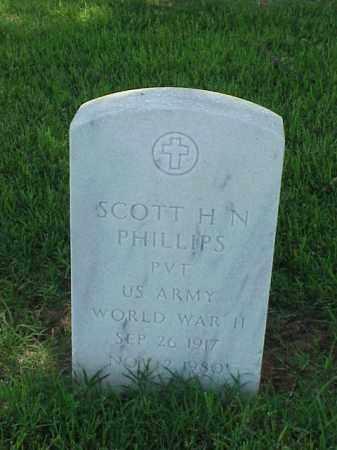 PHILLIPS (VETERAN WWII), SCOTT H N - Pulaski County, Arkansas | SCOTT H N PHILLIPS (VETERAN WWII) - Arkansas Gravestone Photos