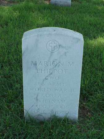 PHILPOT (VETERAN 3 WARS), MARION M - Pulaski County, Arkansas | MARION M PHILPOT (VETERAN 3 WARS) - Arkansas Gravestone Photos