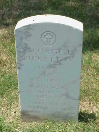 PICKETT IV (VETERAN 3 WARS), GEORGE E - Pulaski County, Arkansas   GEORGE E PICKETT IV (VETERAN 3 WARS) - Arkansas Gravestone Photos