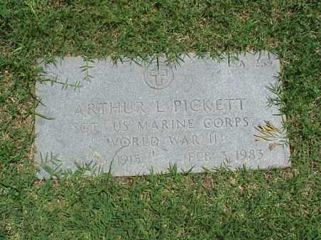 PICKETT (VETERAN WWII), ARTHUR L - Pulaski County, Arkansas   ARTHUR L PICKETT (VETERAN WWII) - Arkansas Gravestone Photos