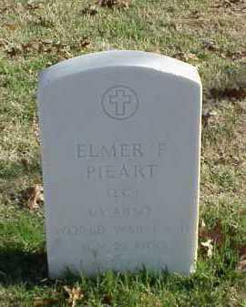 PIEART (VETERAN 2 WARS), ELMER F - Pulaski County, Arkansas | ELMER F PIEART (VETERAN 2 WARS) - Arkansas Gravestone Photos