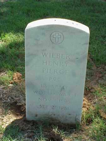 PIERCE (VETERAN WWI), WILBER HENRY - Pulaski County, Arkansas   WILBER HENRY PIERCE (VETERAN WWI) - Arkansas Gravestone Photos