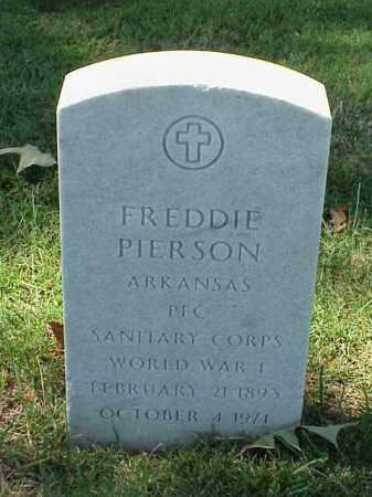 PIERSON (VETERAN WWI), FREDDIE - Pulaski County, Arkansas | FREDDIE PIERSON (VETERAN WWI) - Arkansas Gravestone Photos