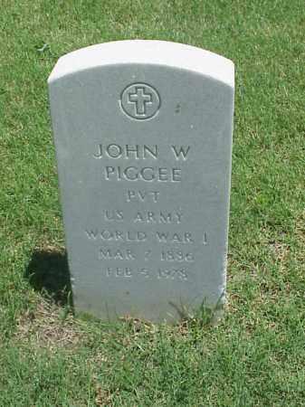 PIGGEE (VETERAN WWI), JOHN W - Pulaski County, Arkansas | JOHN W PIGGEE (VETERAN WWI) - Arkansas Gravestone Photos