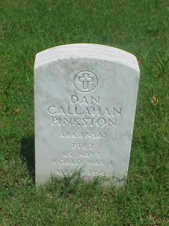 PINKSTON (VETERAN WWI), DAN CALLAHAN - Pulaski County, Arkansas   DAN CALLAHAN PINKSTON (VETERAN WWI) - Arkansas Gravestone Photos