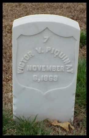PIQUINAT (VETERAN UNION), VICTOR V - Pulaski County, Arkansas | VICTOR V PIQUINAT (VETERAN UNION) - Arkansas Gravestone Photos