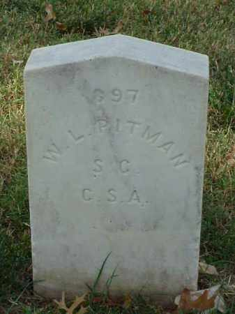 PITMAN (VETERAN CSA), W L - Pulaski County, Arkansas | W L PITMAN (VETERAN CSA) - Arkansas Gravestone Photos