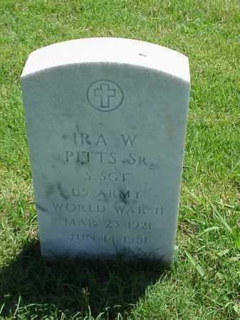 PITTS, SR (VETERAN WWII), IRA W - Pulaski County, Arkansas | IRA W PITTS, SR (VETERAN WWII) - Arkansas Gravestone Photos