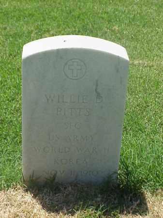 PITTS (VETERAN 2 WARS), WILLIE D - Pulaski County, Arkansas | WILLIE D PITTS (VETERAN 2 WARS) - Arkansas Gravestone Photos