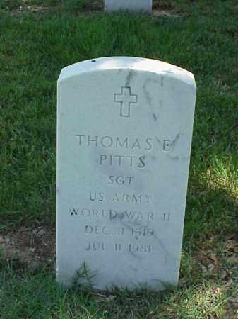 PITTS (VETERAN WWII), THOMAS E - Pulaski County, Arkansas | THOMAS E PITTS (VETERAN WWII) - Arkansas Gravestone Photos